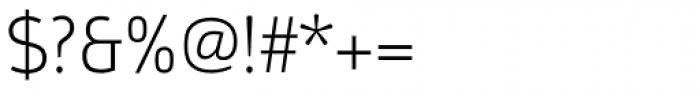 Argumentum UltraLight Font OTHER CHARS