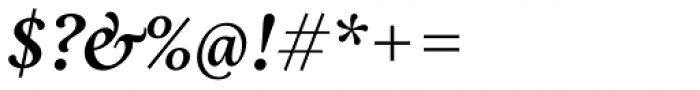 Aria Text G2 Semi Bold Italic Font OTHER CHARS
