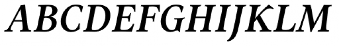 Aria Text G2 Semi Bold Italic Font UPPERCASE