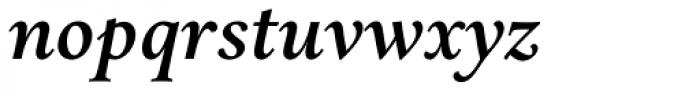 Aria Text G2 Semi Bold Italic Font LOWERCASE