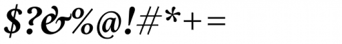 Aria Text G3 Semi Bold Italic Font OTHER CHARS
