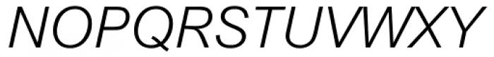 Arial MT Light Italic Font UPPERCASE