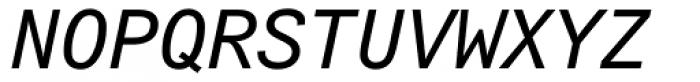 Arial Monospaced MT Oblique Font UPPERCASE