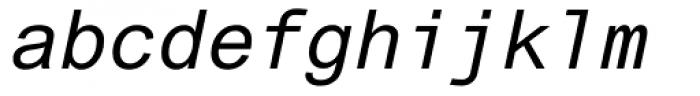 Arial Monospaced MT Oblique Font LOWERCASE