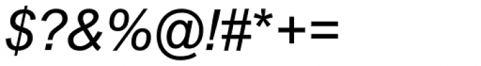 Arial Nova Italic Font OTHER CHARS