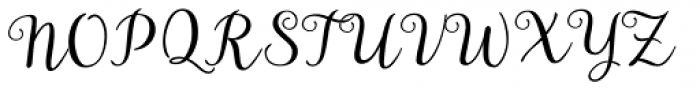 Aristelle Script Font UPPERCASE