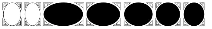 Ark SG Oval Frames Font UPPERCASE