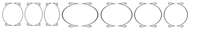 Ark SG Oval Frames Font LOWERCASE