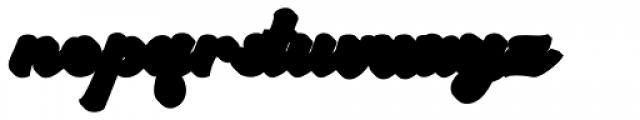 Arkana Extrude Font LOWERCASE