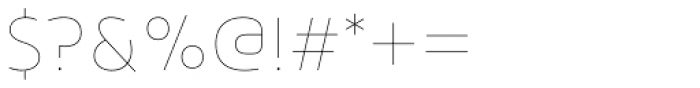 Arlon Thin Font OTHER CHARS