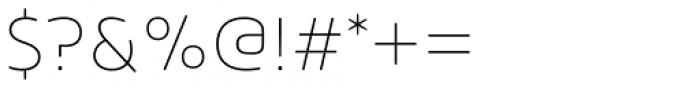 Arlon Ultra Light Font OTHER CHARS
