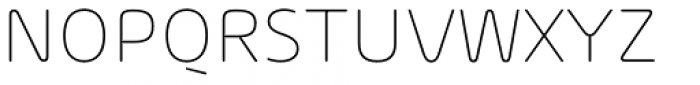 Arlon Ultra Light Font UPPERCASE