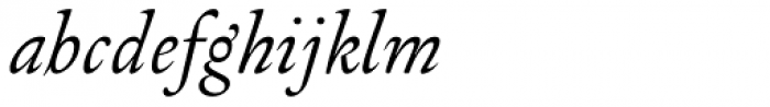 Arlt Blanca Italic Font LOWERCASE