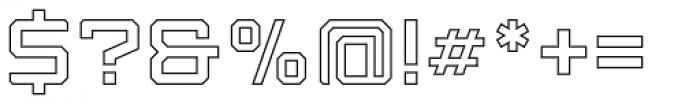 Armadura Outline Font OTHER CHARS