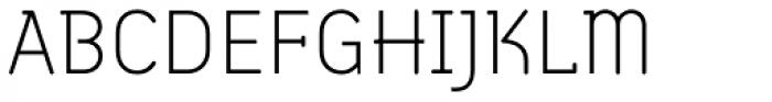 Armature Neue ExtraLight Font UPPERCASE
