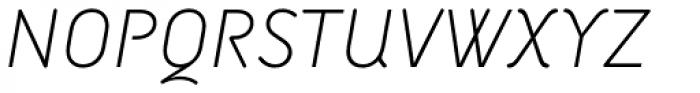 Armature Neue Sans ExtraLight Italic Font UPPERCASE