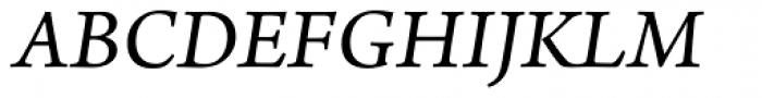 Arno Pro SmallText Italic Font UPPERCASE