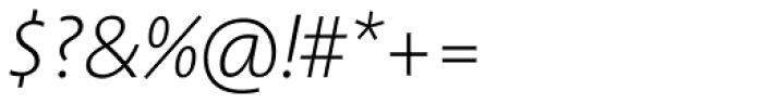 Aroma No. 2 Pro ExtraLight Italic Font OTHER CHARS