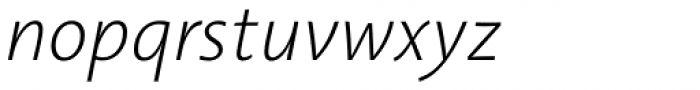Aroma No. 2 Pro ExtraLight Italic Font LOWERCASE