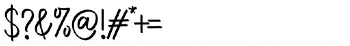 Aromi Regular Font OTHER CHARS