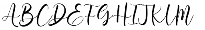 Aromi Script Font UPPERCASE