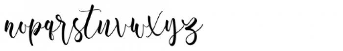 Aromi Script Font LOWERCASE