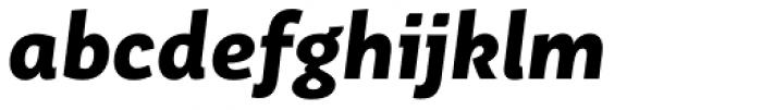 Aromo ExtraBold Italic Font LOWERCASE