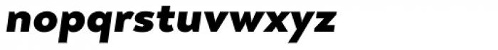 Arquitecta Black Italic Font LOWERCASE
