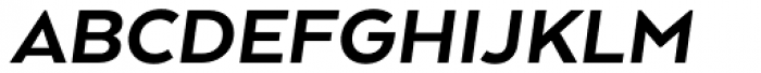 Arquitecta Standard Heavy Italic Font UPPERCASE