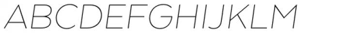 Arquitecta Thin Italic Font UPPERCASE