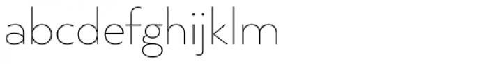 Arquitecta Thin Font LOWERCASE