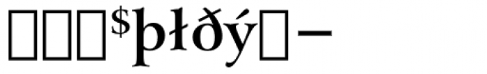Arrus BT Bold Extension Font OTHER CHARS