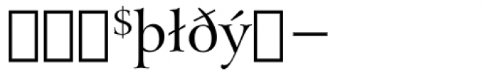 Arrus BT Extension Font OTHER CHARS