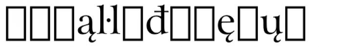 Arrus BT Extension Font LOWERCASE