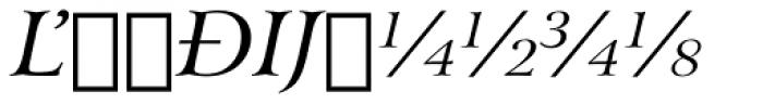 Arrus BT Italic Extension Font UPPERCASE