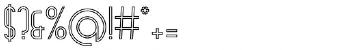 Arsinoe Bold Outline Font OTHER CHARS