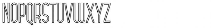 Arsinoe Bold Outline Font UPPERCASE