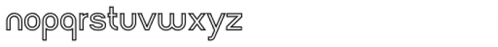 Arsinoe Bold Outline Font LOWERCASE