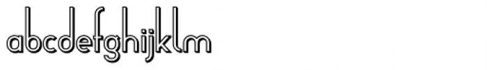 Arsinoe Bold Shadow Font LOWERCASE