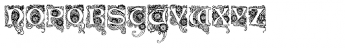 Art Deco Flowery Initials Font LOWERCASE