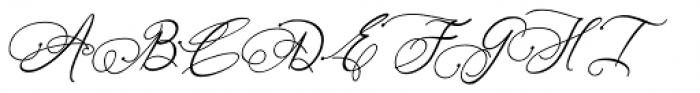 Art Maria Italic Font UPPERCASE