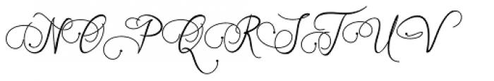 Art Maria Regular Font UPPERCASE