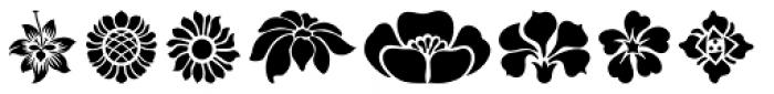 Art Nouveau Flowers Font LOWERCASE
