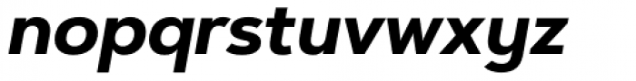 Artegra Sans Alt Bold Italic Font LOWERCASE