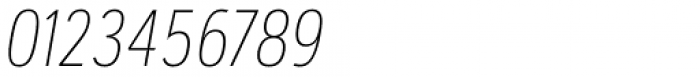 Artegra Sans Condensed Alt Thin Italic Font OTHER CHARS