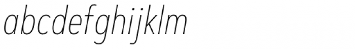 Artegra Sans Condensed Alt Thin Italic Font LOWERCASE