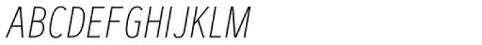 Artegra Sans Condensed SC Thin Italic Font LOWERCASE