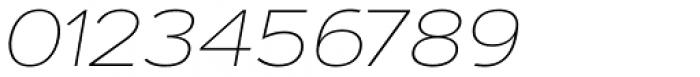 Artegra Sans Extended Alt Thin Italic Font OTHER CHARS