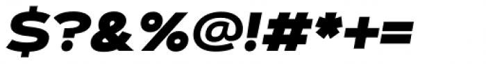 Artegra Sans Extended Black Italic Font OTHER CHARS