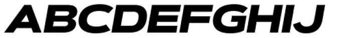 Artegra Sans Extended Black Italic Font UPPERCASE